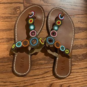 Lulus MIA Beaded Sandals